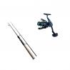 Set spinning lansetă 2.1 m 100% carbon Cool Angel Raizer și mulineta YoYo 2000, putere aruncare 10-30 g