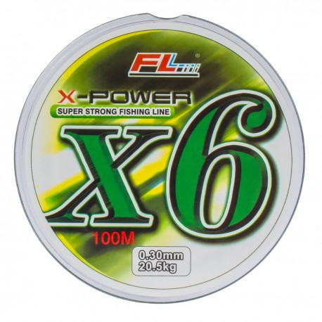 Fir textil X-Power FL X6 Super Strong Fishing Line 100m