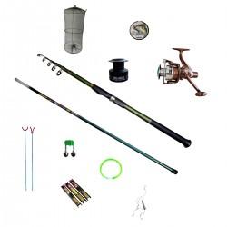 Set pescuit Cool Angel cu lanseta de 3 m, undita de 4 m si accesorii pescuit, putere aruncare 30 - 60 g