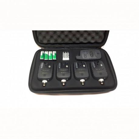 Set 4 Avertizori Cu Statie Hakuyo, 4 culori si statie, valigeta si baterii incluse